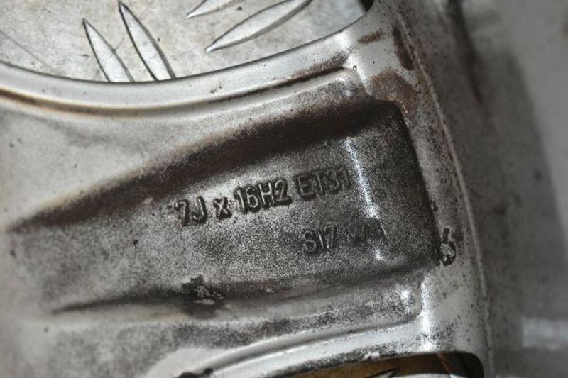 Aluminiumfelge 7JX16 H2 ET31 LK5X1121Satz(je4Stück)
